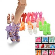 iDream 10pairs Colorful Assorted Fashion Doll Shoes Heels Sandals Accessories For Barbie Dolls