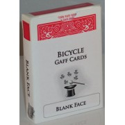 Blank Face Red Back Bicycle Deck