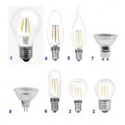 Müller Licht Filament LED Reflektorlampe - 5W, GU5.3, klar, warmweiß, 230lm, A+
