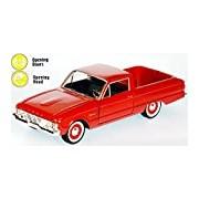 "Motormax GOTZMM79321RD 1:24 Scale Red ""1960 Ford Ranchero"" Die Cast Model Car"