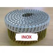 Pointes 16° 2.5x55 mm Anti-fendage INOX A2 TB en rouleaux plats fil PVC X 5250