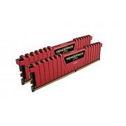 Corsair CMK16GX4M2B3200C16R Vengeance LPX Kit di Memoria RAM da 16 GB, 2x8 GB, DDR4, 3200 MHz, CL16, Rosso