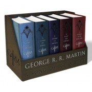 George R. R. Martin's a Game of Thrones Leather-Cloth Boxed Set (Song of Ice and Fire Series): A Game of Thrones, a Clash of Kings, a Storm of Swords,, Paperback