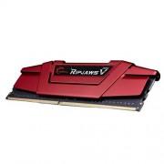 gskill F4 - 3200 C16D-16gvr D4 3200 ripjawsv di memoria 16 GB (C16, 2 x 8 GB, 1,4 V) rosso
