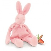 Bunnies by the Bay Silly Buddy Bunny Pink with Pacifier Holder