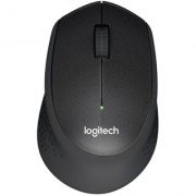 Logitech M330 Silent Click Wireless Mouse (Black)
