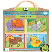 Innovative Kids Green Start Wooden Puzzles: Playful Pals (2Yrs+) Puzzle by Innovative Kids