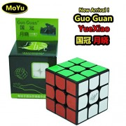 Hot!! MoYu GuoGuan YueXiao 3x3 3 Layers Magic Cube Professional Speed Puzzle Cube Brain Teasers Game Black With a Cube Bag ¡Caliente!! MOYU guoguan yuexiao 3x3 3 capas cubo mágico Puzzle Cubo rompecabezas juego profesional de velocidad con un cubo negro b