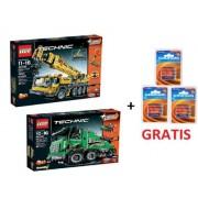 Lego Technic Set 42009 Mobile Crane & Camiones Pesados Remolque 42008 + 12 Baterías Grundig libre