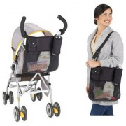 Baby Stroller Hanging Bag Diaper Nappy Bag Mummy Shoulder Bag Black