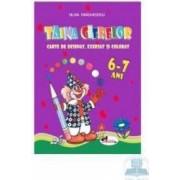 Taina cifrelor 6-7 ani - Carte de desenat exersat si colorat - Silvia Draghicescu