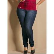 Calca Jeans Skinny Plus Size Azul