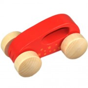 Early Explorer Preschool Kids Toddlers Wooden Little Auto Toy Red