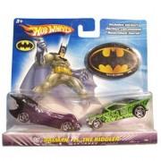 Hot Wheels DC Comics Batman vs The Riddler 1:64 Scale Die Cast Car 2 Pack Mattel