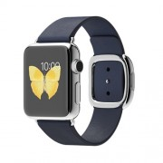 APPLE 38MM STAINLESS STEEL CASE WITH MIDNIGHT BLUE MODERN BUCKLE - MEDIUM