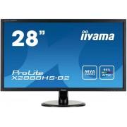 "Monitor MVA LED iiyama Prolite 28"" X2888HS, Full HD (1920 x 1080), VGA, DVI, HDMI, DisplayPort, 5 ms, Boxe (Negru) + Lantisor placat cu aur cu pandantiv in forma de lup de mare"