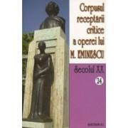 Corpusul receptarii critice a operei lui Mihai Eminescu. Sec. XX. Vol. 24-25, perioada septembrie 1919.