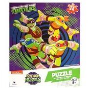 Teenage Mutant Ninja Turtles Half Shell Heroes 24 Piece Puzzle Turtle Power Ages 5+