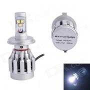 H4 30W 3000LM 6500K 3 LED Blanco Distancia de luz la luz de niebla para el carro del coche (DC12 ~ 24V)