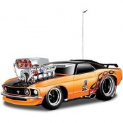 Maisto 118 Rc 1969 Ford Mustang Boss 302 Muscle Machines Orenge Remote Control Toy Car (Orange)