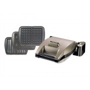 Lagrange 019622 Premium Gaufres + Gaufrettes + Croque Monsieur - Gaufrier - 1200 W