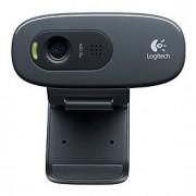 Logitech na webcam notebook ambiente de trabalho c270 casa HD com microfone
