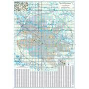 Harta de perete, Bucuresti si localitati limitrofe, plastifiata 140x200 cm