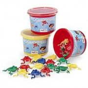 International Playthings Game Zone - Frog Hoppers - Flip the Frogs into the Bucket! Simple and Fun for Ages 3 and Up by Viking Toys