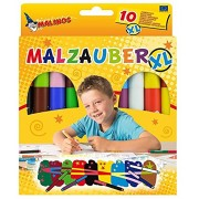 Toys Bhoomi Malinos XL JUMBO Sized 10 Piece Magic Color Pen 300007 - MADE IN GERMANY