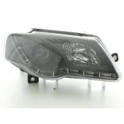 Phares avant VW Passat B6 (3C) Devil Eyes LED - Noir