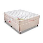 Conjunto Box Colchão Orthocrin Molas Pocket Way + Cama Box Courino White - Conjunto Box Queen Size - 158 x 198