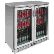 Vitrina botellera frigorífica de acero inoxidable 180 botellas Polar CE206