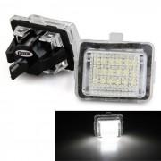 LED blanco QooK JHBK040001 1.44W la placa del carnet para el BENZ W221 (2 piezas)