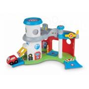 Smoby garaj cu service auto şi maşinuţă pentru copii Vroom Planet 211109