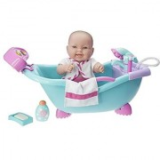 JC Toys Lots to Lots to Love Baby Doll Real Working Bathtub with Electronic Bath Sounds All Vinyl Water Friendly 14 inch