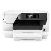 Imprimanta jet cerneala HP Officejet Pro 8218, A4, 20 ppm, Duplex, Retea, Wireless (Alba) + Cablu imprimanta Omega OUAB1, 1.5m