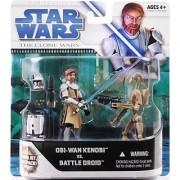 Star Wars The Clone Wars Exclusive Obi-Wan Kenobi vs Battle Droid Figure Pack