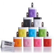 Omni INC 10PCS Rainbow Bundle USB AC Travel Home Charger Power Adapter 1000 mAh