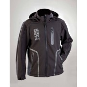 Softshell Jacke, Farbe schwarz/ grau, Gr. XXL