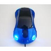 Onloon Ratón óptico Oscuro Coche De Deportes Azul En Forma De USB Para Notebook PC Portátil