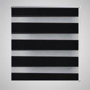 vidaXL Roleta Zebra / noc a den Twinroll 60 x 120 cm, černá