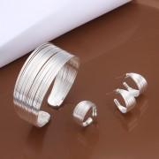 Set placat argint bratara inel cercei