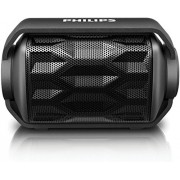 Philips BT2200B/27 Shoqbox Mini Wireless Water Resistant Outdoor Portable Bluetooth Speaker (Black)