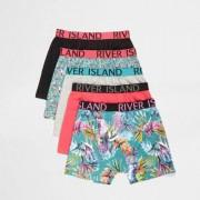 River Island Boys tropical print boxers multipack