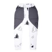 Pantaloni lungi Fir - alb, buzunare gri, 8-10 ani