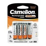 Camelion NH-AA2300BP4 Batería/Pila recargable (Níquel metal hidruro, 2300 mAh, 1.2 V, 50.5 mm, 14.1 mm, 30.5 g) Plata