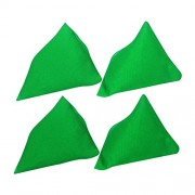 GSI Pack of 4 Green Pyramid Toss Bean Bags for Activity Games