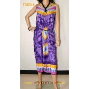 Unique Tie dye Summer Beach Ladies dress- Purple Soft Rayon