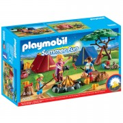 Playmobil Summer Fun Camp Site with LED Fire (6888)