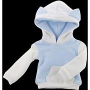 Magideal Cute Cat Ear Fleece Hoodie Hoody Sweatshirt For 1/6 Bjd Sd Blue